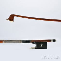 French Nickel Silver-mounted Violin Bow