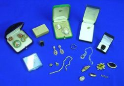 Group of  Mostly Gold Victorian and Later Jewelry