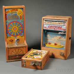 Three Mid-century Coin-operated Arcade Games