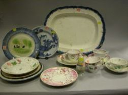Seventeen Pieces of 18th and 19th Century Ceramic Tableware