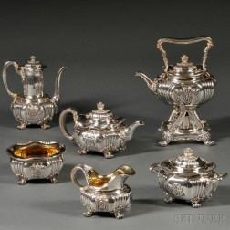 Six-piece Tiffany & Co. Sterling Silver Tea and Coffee Service