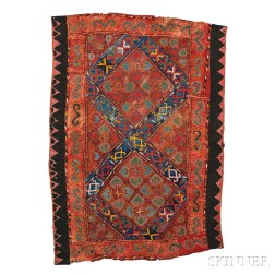 Embroidered Felt Floor Covering