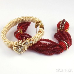 Two Miriam Haskell Bracelets