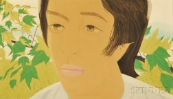 Alex Katz (American, b. 1927)      Boy with Branch I