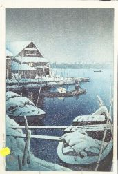 Hasui: Snow at Mukojima