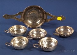 Six Silver Wine Related Tablewares