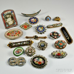 Group of Micromosaic Jewelry and Accessories