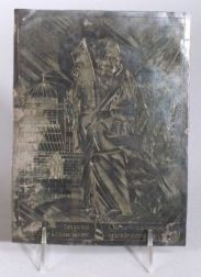 Engraved South American Metal Icon of Thadeus