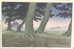 Hasui: Shore of a Temple, Sanuki Province