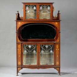Art Nouveau Cabinet in the Manner of Shapland & Petter