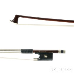 German Nickel-mounted Violin Bow
