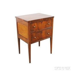 Federal Mahogany Two-drawer Worktable