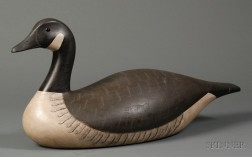 Carved and Painted Canada Goose Decoy
