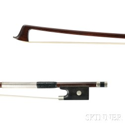 American Nickel-mounted Violin Bow