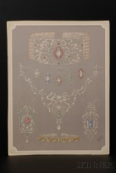 Group of Twenty-eight French Jewelry Illustrations