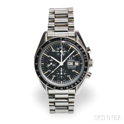 Omega Speedmaster Automatic Stainless Steel Chronograph Wristwatch