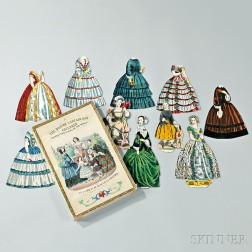 The Boston Lady and Her Children Boxed Paper Doll Set