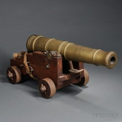 Wooden Ship Cannon Model