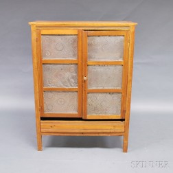 Country Poplar and Tin Pie Safe