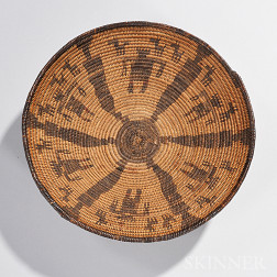 Apache Pictorial Basketry Tray