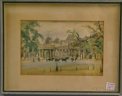 Framed European Park View,      Probably Pall Mall
