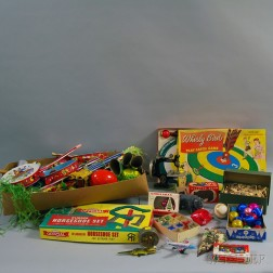 Eight Miscellaneous Toys and Games
