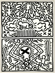 Keith Haring (American, 1958-1990)      Poster for Nuclear Disarmament