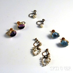Four Pairs of Earclips