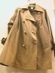 Lanvin Ladys Brown Cotton and Silk Three-Quarter Length Trench Coat.