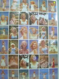 Uncut Sheet of Thirty-six Marilyn Monroe Color Photographic Postcards
