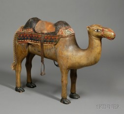Carved and Painted Camel Carousel Figure