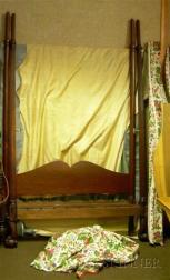 Chippendale-style Carved Mahogany Tall Post Canopy Bed with Claw and Ball Feet
