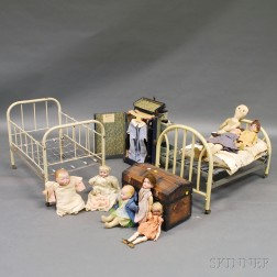 Miscellaneous Group of Dolls, Doll Clothing, Doll Furniture, and Accessories