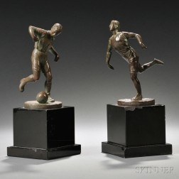 Continental School, 20th Century       Two Bronze Figures of Athletes