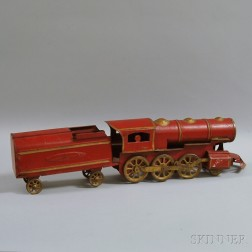 Dayton Hill Climber Pressed Steel Friction-driven Locomotive and Pull Car