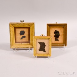 Three Framed Hollow-cut Silhouettes