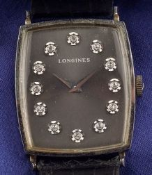 Gentleman's 14kt White Gold and Diamond Wristwatch, Longines