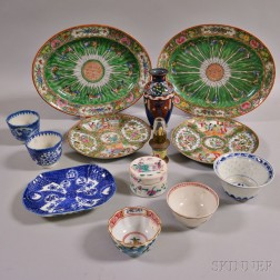 Thirteen Asian Mostly Ceramic Tableware Items