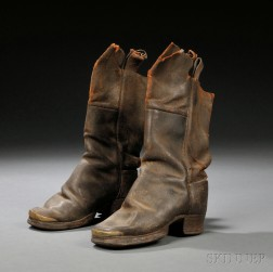 Child's Leather Boots with Brass-capped Toes