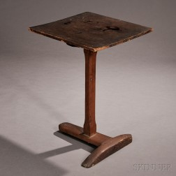 Cherry and Pine T-base Candlestand
