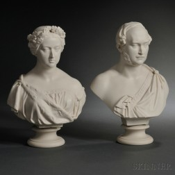 Two Copeland Parian Busts