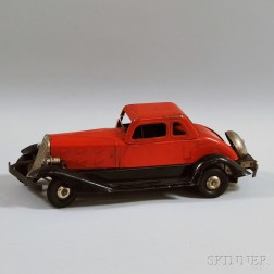 "Hoge ""Fire Chief"" Pressed Steel Friction-driven Coupe"
