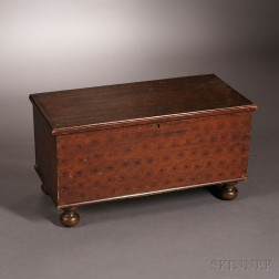 Child's Paint-decorated Six-board Chest