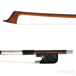 Silver-mounted Cello Bow with Silver Tip