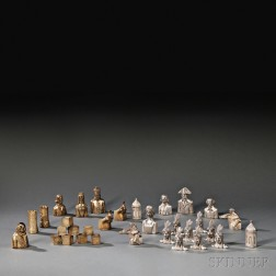 Elizabeth II Parcel-gilded Sterling Silver Liberty   Chess Pieces