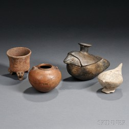 Four Pre-Columbian Pottery Vessels