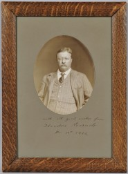 Roosevelt, Theodore (1858-1919) Signed Photograph, 11 March 1912.