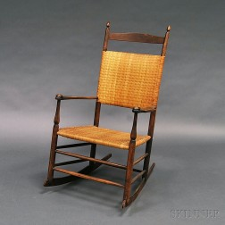 "Shaker ""6"" Production Armed Rocking Chair"