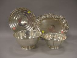 Raimond Sterling Silver Bowl, a Revere-style Sterling Silver Bowl, a Gorham Sterling Silver Tray, and a Reed & Barton Sterling Silver T