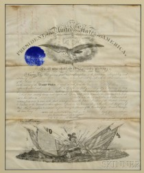 Grant, Ulysses S. (1822-1885) Signed Military Commission, 27 June 1870.